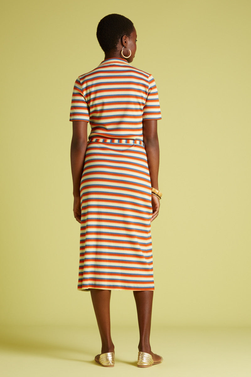 King Louie Rose Slim Fit Dress Daydream Stripe