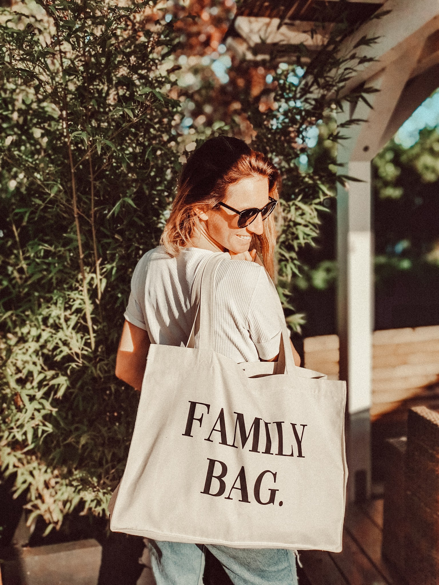 Family- Bag in beige