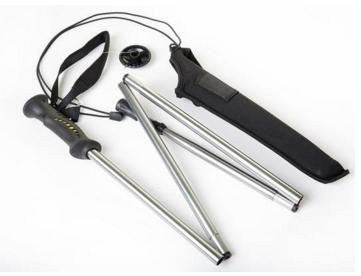 RAH Foldable Wading Staff  with Neoprene Pouch, Non-Slip Rubber Handle & Adjustable Strap - RAH Tackle™