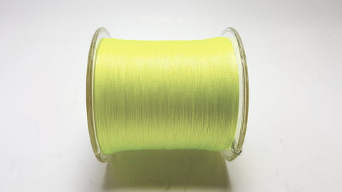 100% PE Braided Fishing Line- 10-60 lb Test / 547 Yards- YELLOW Braid