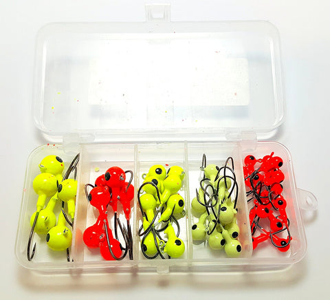 RAH Fishing Jigs - 44pcs With Fishing Tackle Box -Multiple colors / sizes! - RAH Tackle™
