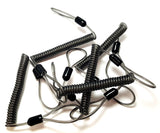 RAH 5 X Stainless Steel DIY Coil Lanyard - (5 Pack - Loop Ends) - RAH Tackle™