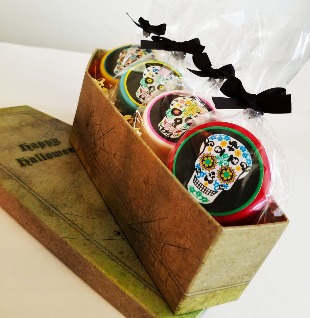 Day of the Dead Sugar Skull Oreos® in Coffin Box for Halloween