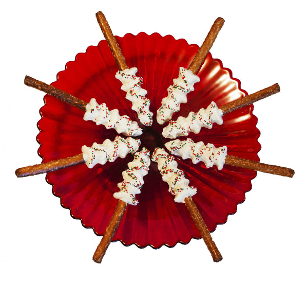 Good Little Gifts ~ White Chocolate Christmas Tree Pretzel Rods