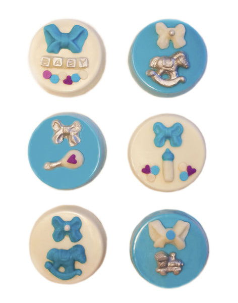 Image of chocolate covered oreos® as a baby boy gift from Benedict Treats