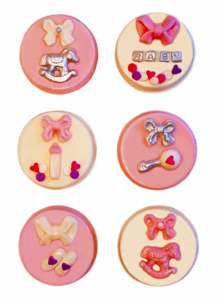 Image of chocolate covered oreos® as a baby girl gift from Benedict Treats