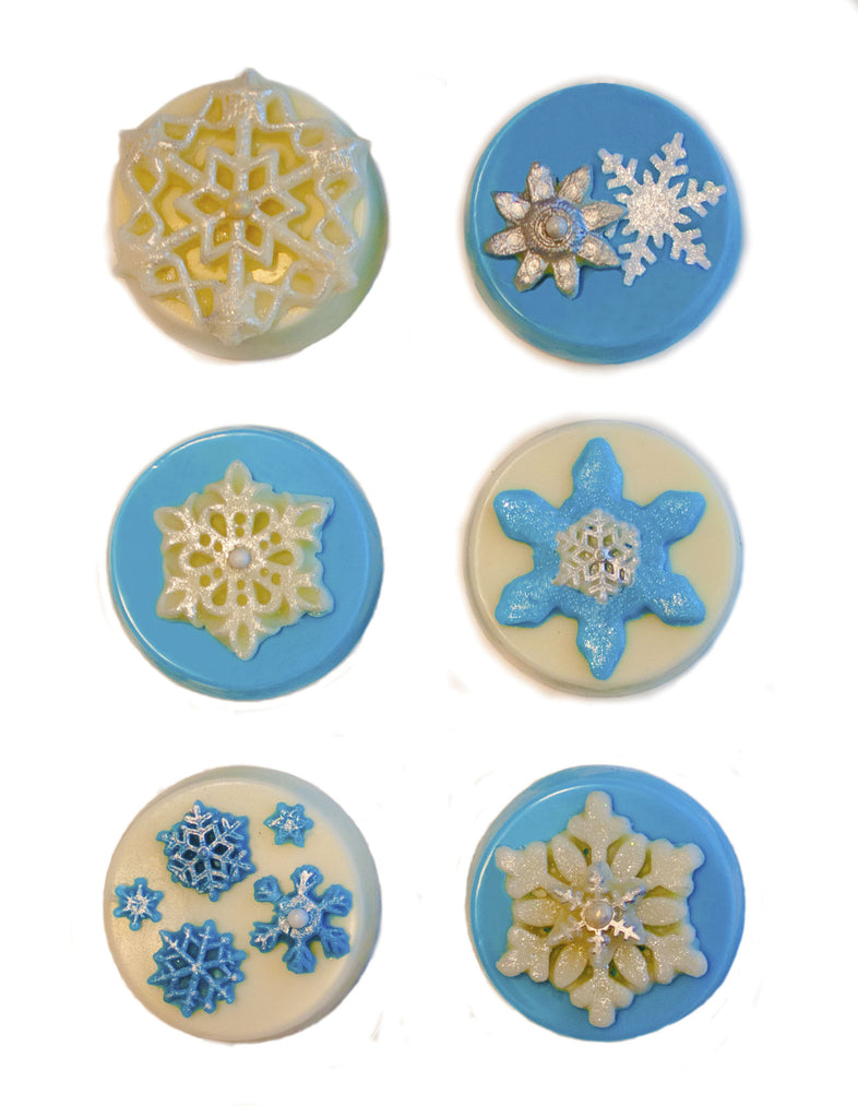 Image of chocolate covered oreos with a fun snowflake design as a holiday or christmas cookie delivery gift from Benedict Treats