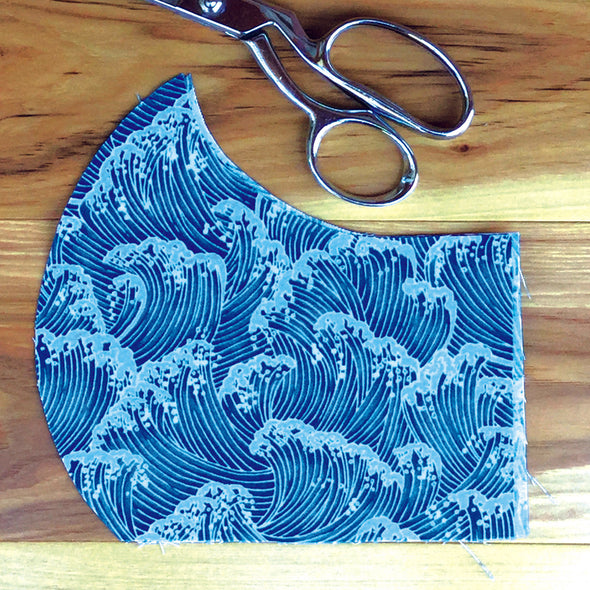 Ocean Waves ~ Adult Sizes M & L Mask w/ Filter Pocket