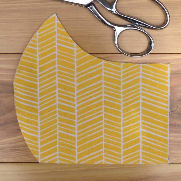 Yellow Arrows ~ Adult Mask w/ Filter Pocket