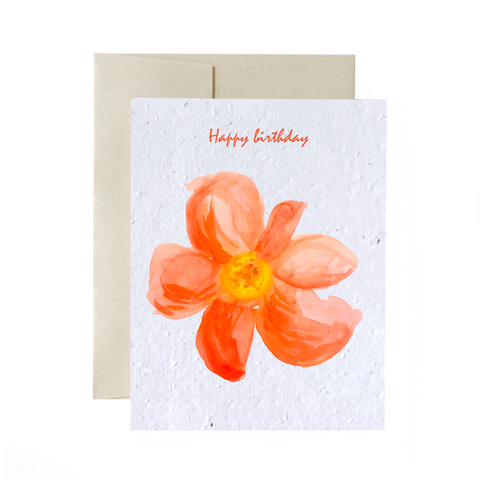 Red Flower | Card