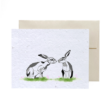 Hares Kisses | Card