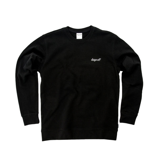 Desmond Crewneck, Obsidian Black - days off