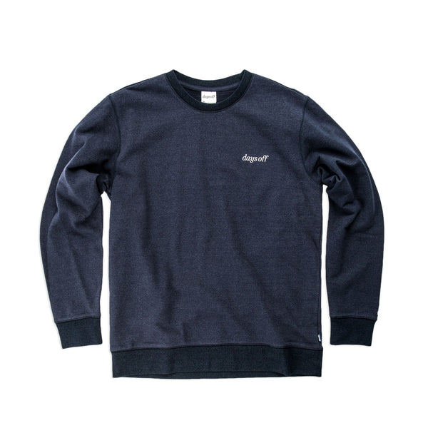 Desmond Crewneck, Essex Blue - days off