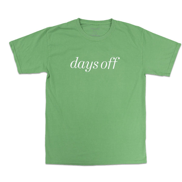 Days Off Logo T-Shirt, Green - days off