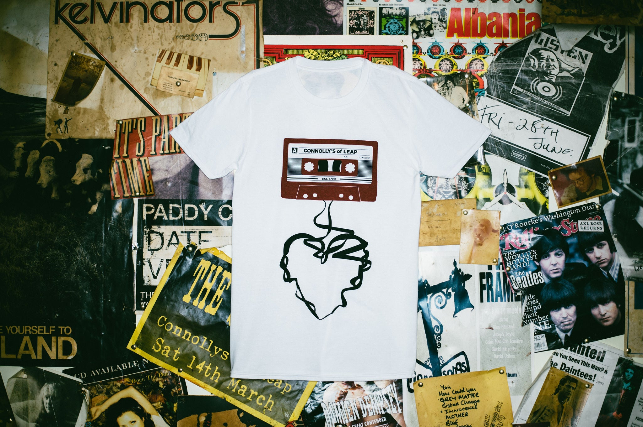Cassette Tee (Limited Edition) Maroon