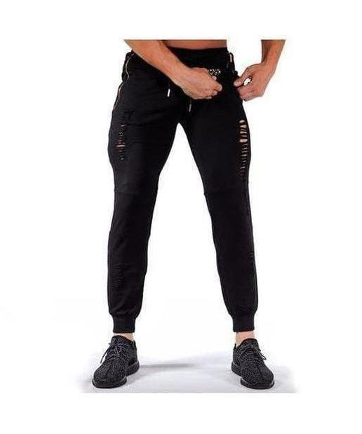 Image of Squad Wear Distressed Joggers Black