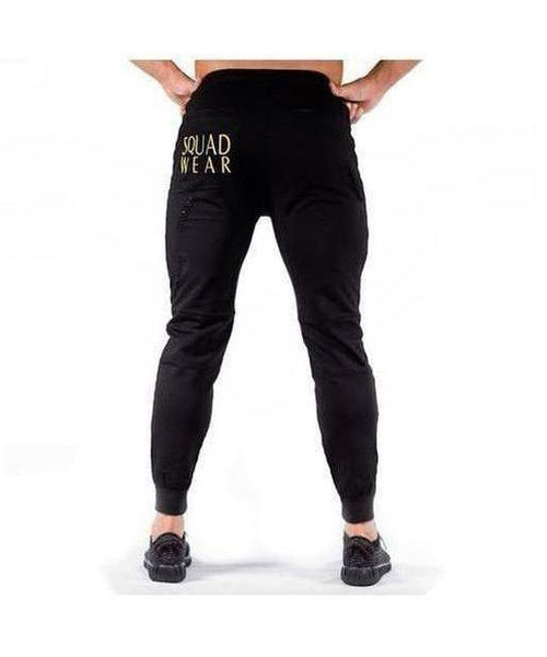 Squad Wear Distressed Joggers Black-Squad Wear-Gym Wear