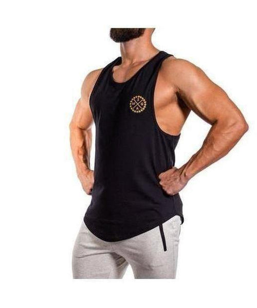 Squad Wear Signature Scoop Sleeveless T-Shirt Black-Squad Wear-Gym Wear