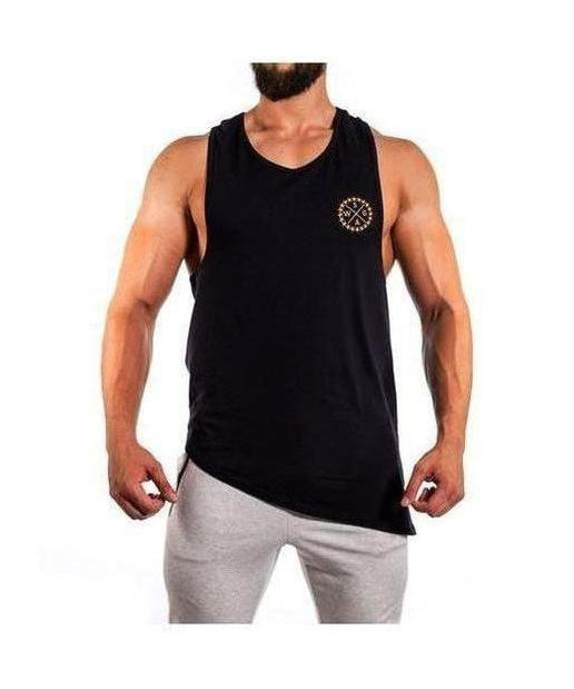 Image of Squad Wear Side Scoop Sleeveless T-Shirt Black