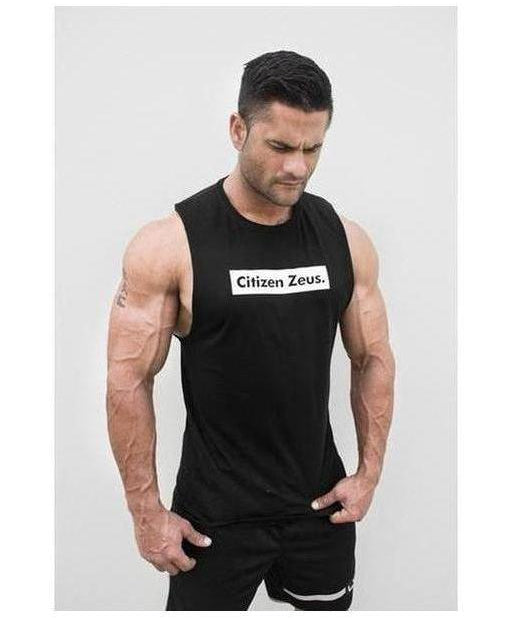 Image of Citizen Zeus Box Logo Sleeveless T-Shirt Black