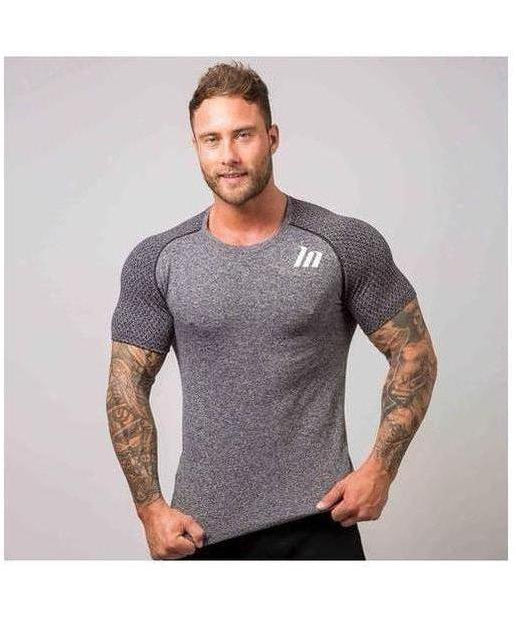Image of Muscle Nation Ghost Seamless T-Shirt Grey