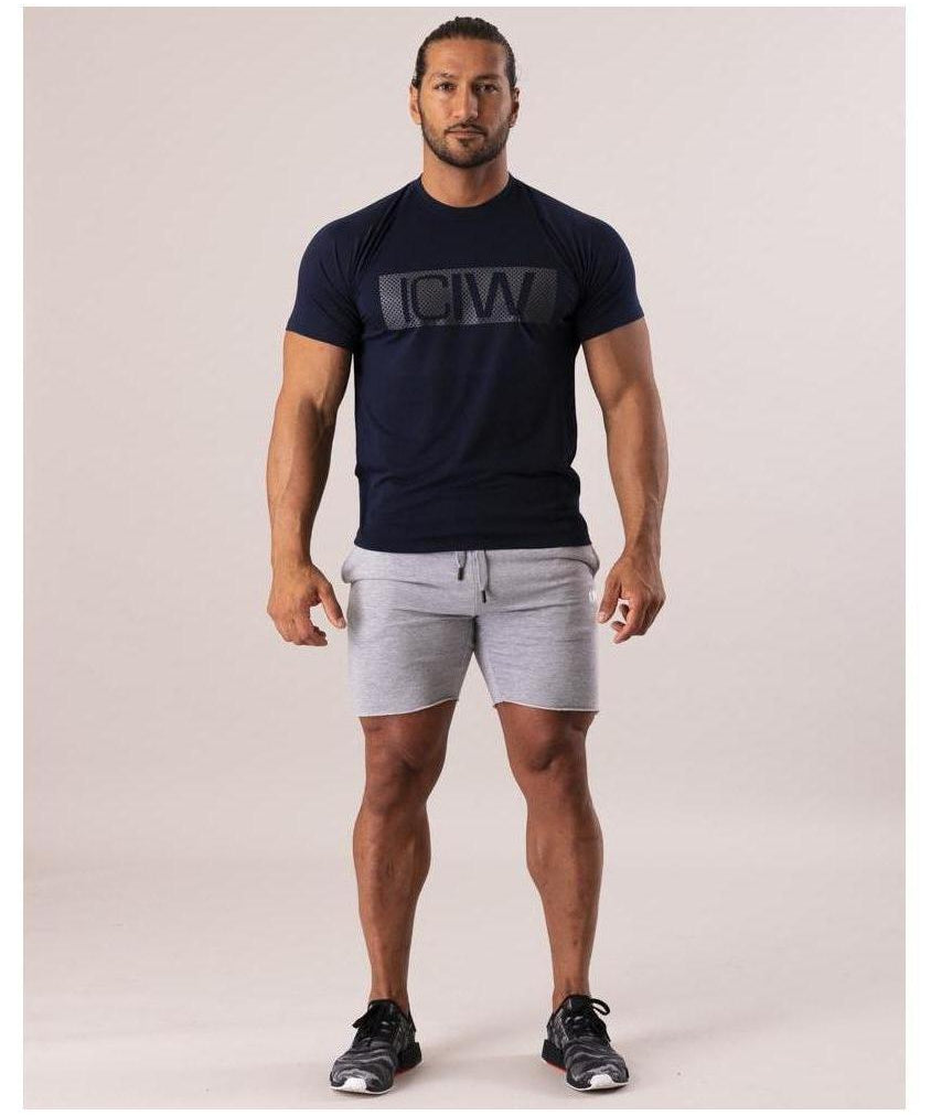 ICIW Block T-shirt Deep Navy-ICIW-Gym Wear