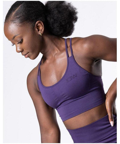 ICIW Define Seamless Sports Bra Purple-ICIW-Gym Wear