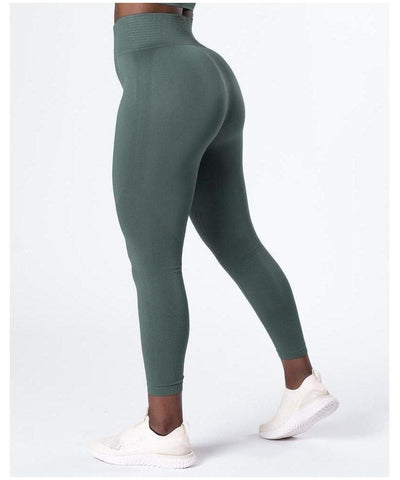 ICIW Define Seamless High Waited Leggings Jungle Green-ICIW-Gym Wear