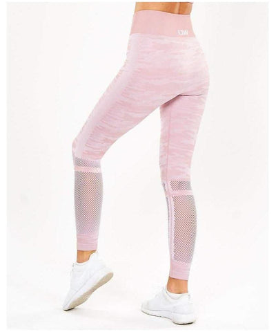 ICIW Seamless Leggings Pink Camo-ICIW-Gym Wear
