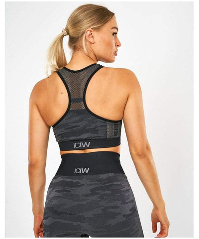 ICIW Seamless Sports Bra Dark Camo-ICIW-Gym Wear