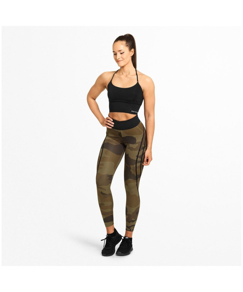 Better Bodies Camo High Waisted Leggings Green Camo-Better Bodies-Gym Wear