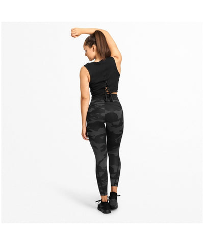 Better Bodies Camo High Waisted Leggings Dark Camo-Better Bodies-Gym Wear