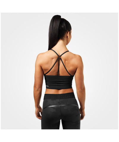 Better Bodies Astoria Seamless Sports Bra Black-Better Bodies-Gym Wear