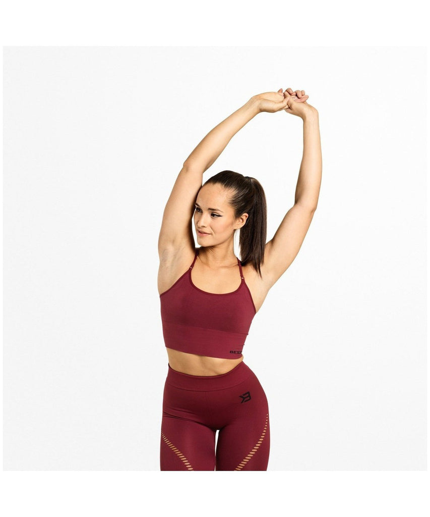 Better Bodies Astoria Seamless Sports Bra Red-Better Bodies-Gym Wear