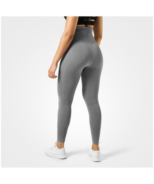 Better Bodies Bowery High Waisted Leggings Grey-Better Bodies-Gym Wear