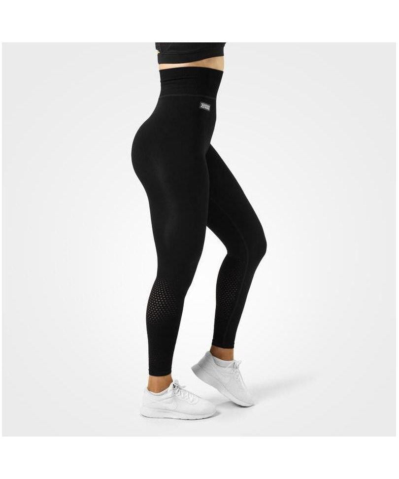 Better Bodies Bowery High Waisted Leggings Black-Better Bodies-Gym Wear