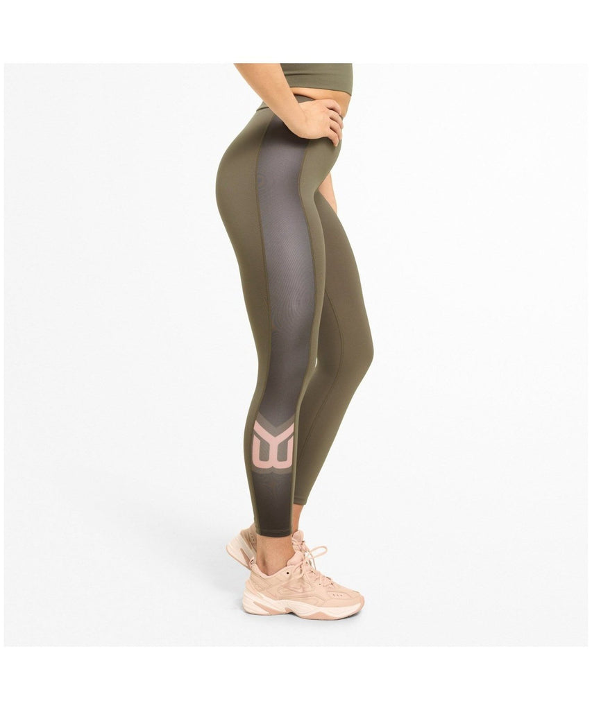 Better Bodies Chrystie High Waisted Leggings Green-Better Bodies-Gym Wear