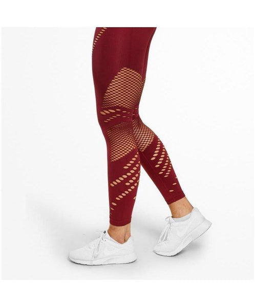 Better Bodies Waverly High Waisted Leggings Red-Better Bodies-Gym Wear