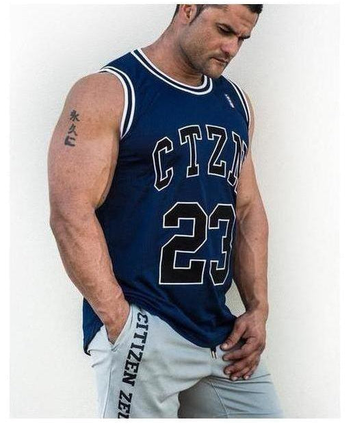 Image of Citizen Zeus CTZN Legends Sleeveless Jersey Navy