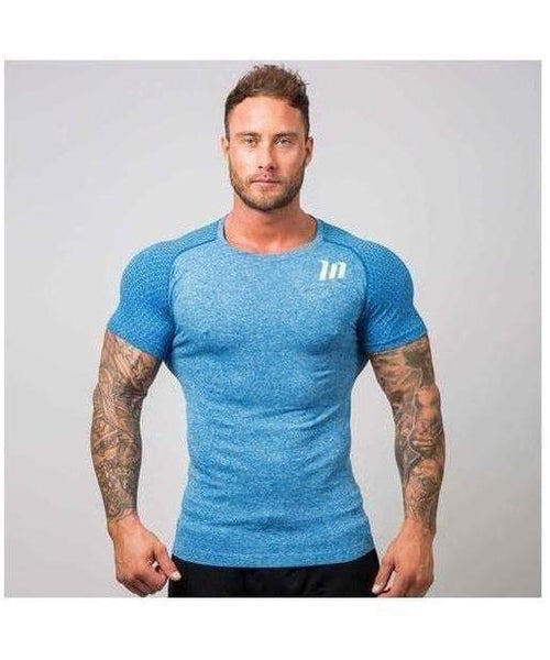 Muscle Nation Ghost Seamless T-Shirt Blue-Muscle Nation-Gym Wear