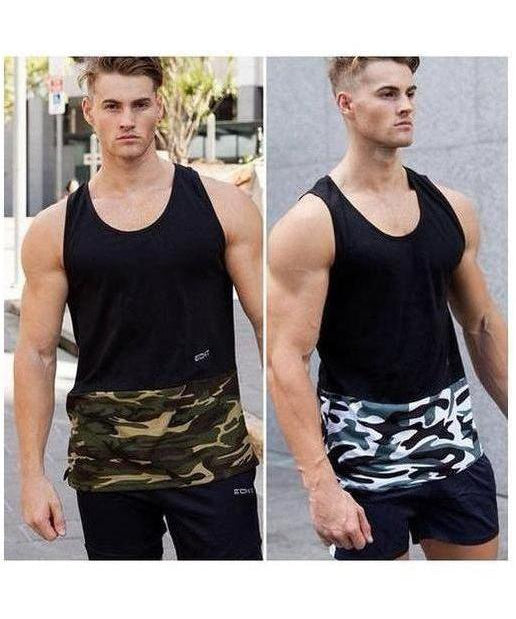 Echt Mens Militant Sleeveless T-Shirt Arctic-Echt-Gym Wear