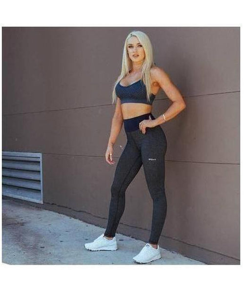 Womens Echt Impetus Accent Leggings Obsidian/Navy-Echt-Gym Wear