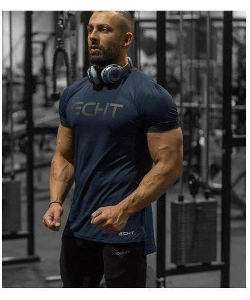 Echt Vertex Dry T-Shirt Navy-Echt-Gym Wear
