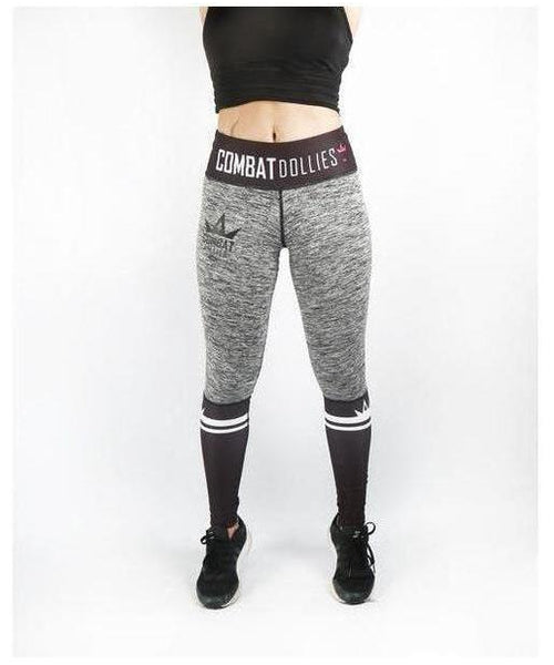 Combat Dollies Crossfit Fitness Leggings Grey-Combat Dollies-Gym Wear