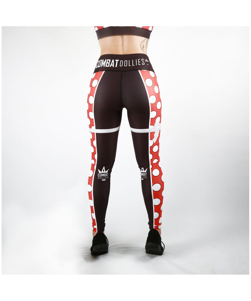 Combat Dollies Red Polka Dot Fitness Leggings-Combat Dollies-Gym Wear