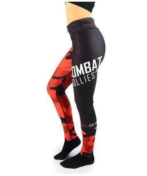 Combat Dollies Fitness Leggings Red Camo-Combat Dollies-Gym Wear
