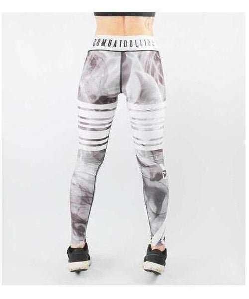 Combat Dollies Smoking Fitness Leggings White-Combat Dollies-Gym Wear