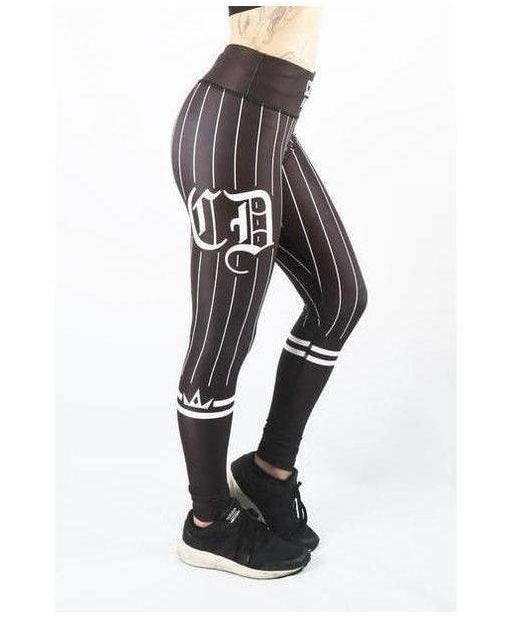 Combat Dollies Baseball Fitness Leggings Black/Black-Combat Dollies-Gym Wear