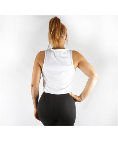 Combat Dollies Cropped Vest White