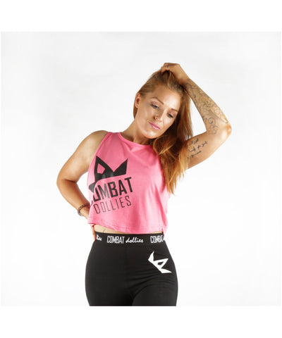 Combat Dollies Cropped Vest Pink